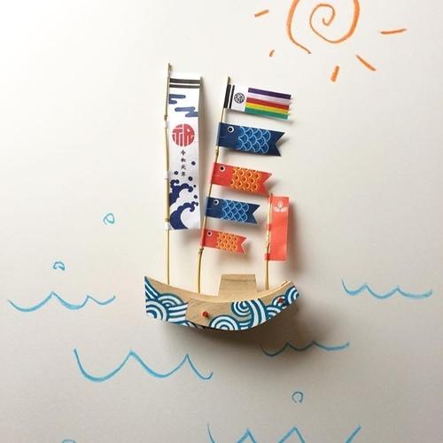 宗像くすのき玩具 みあれ祭りの船をつくろう(端午の節句版)