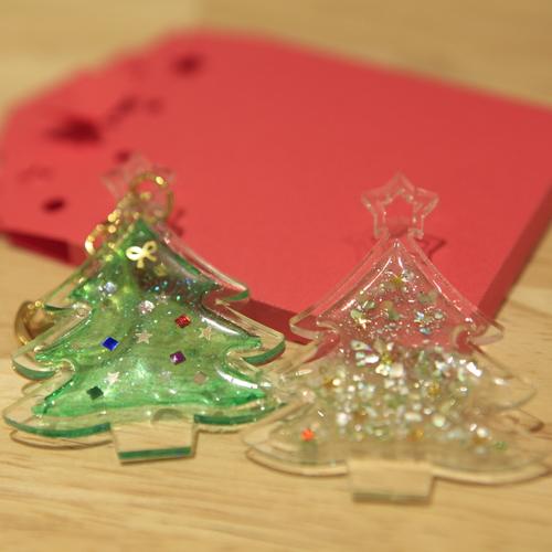 クリスマスツリーのキーホルダー(アクセサリー)をレーザー加工機で作ろう!