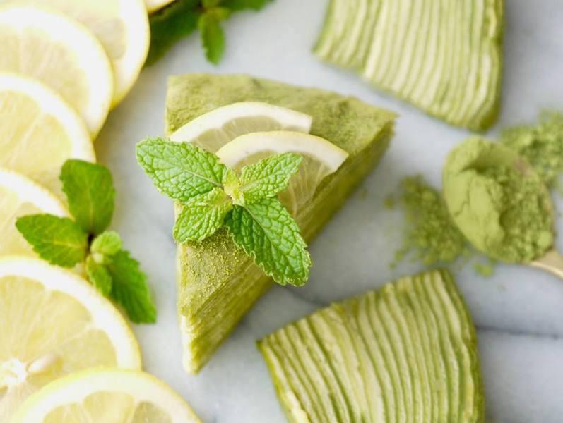 【Gâteau Mille Crêpes au citron et thé vert 抹茶とレモンの米粉ミルクレープ 】