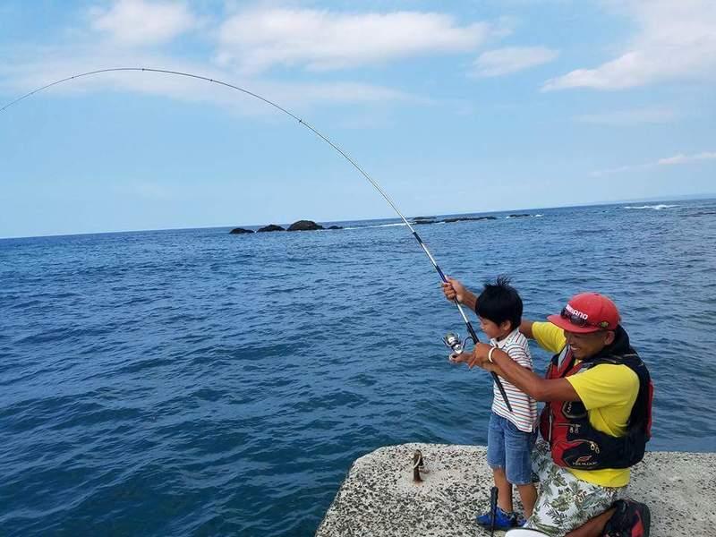 屋久島  堤防釣り体験