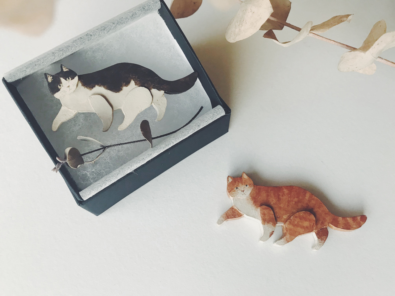 【ささきめぐみ個展「ねむけ」】ブローチ受注会「お宅のネコをつくります」@手紙舎鎌倉店