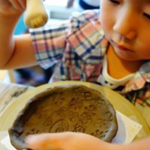 夏休み陶芸~かわいい模様のお皿を作ろう!