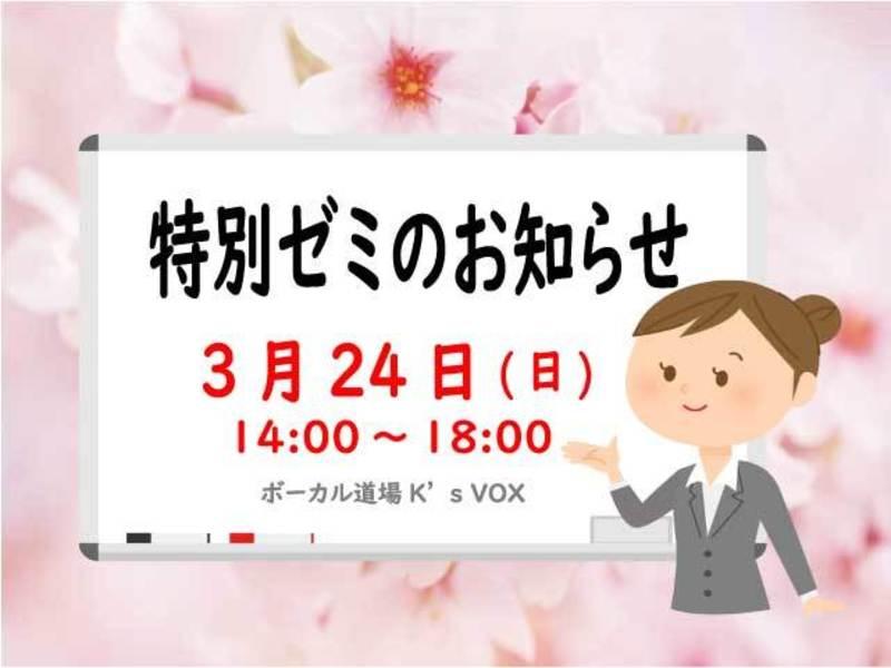 【2019年3月24日開催】特別ゼミ(ワークショップ)