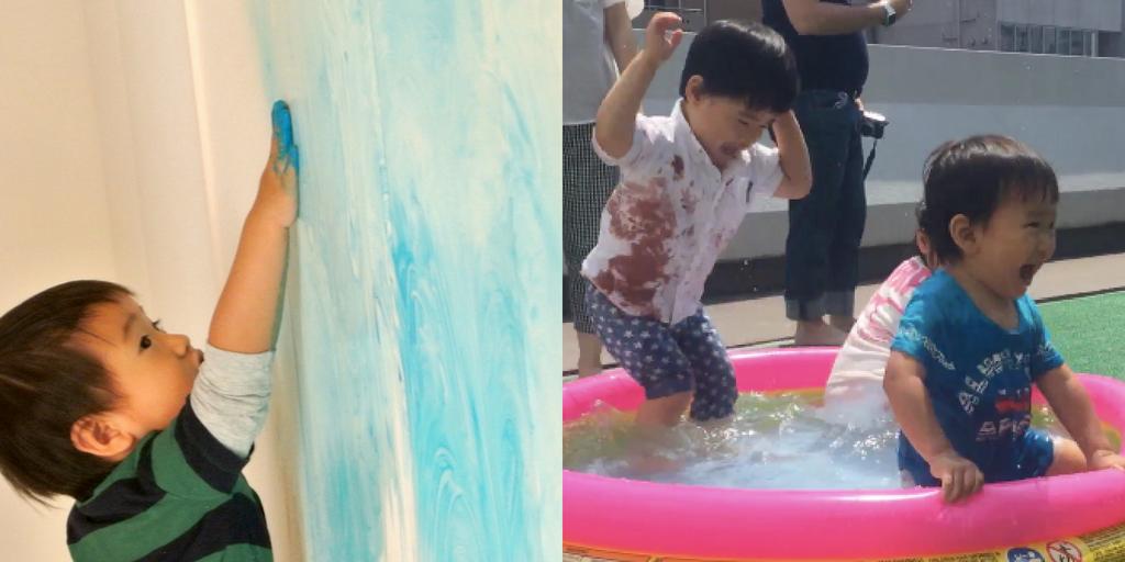 [2歳] 全身でペイント!Baby FREELY☆Summer(夏) 8月