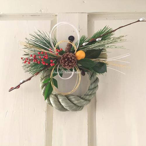 島根県石見地方 オリジナルしめ縄飾りレッスン