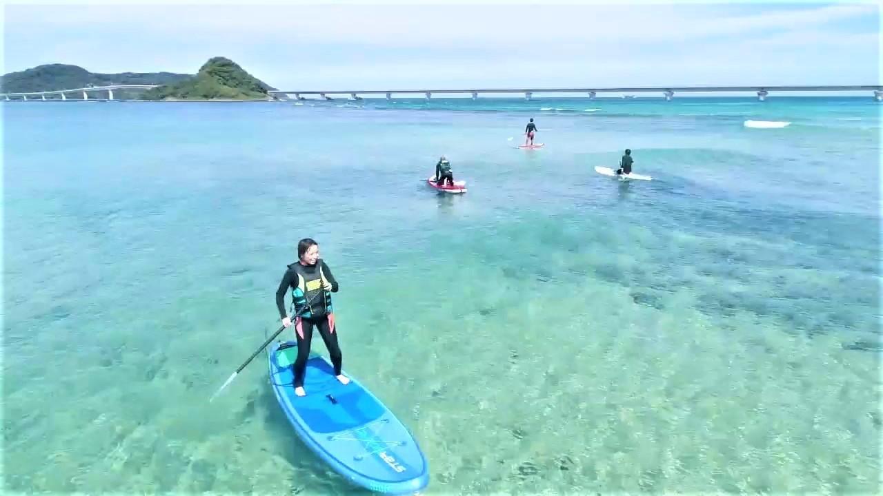 角島でSUP・サーフィン体験・ドローン撮影プレゼント