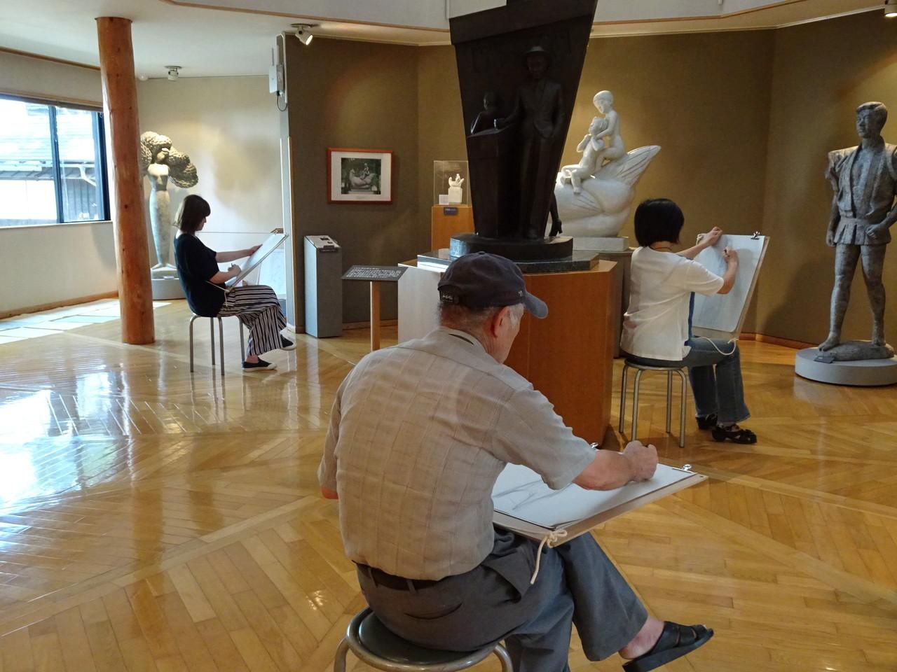 長沼孝三彫塑館でクロッキー会〈第三期〉(午後の部)