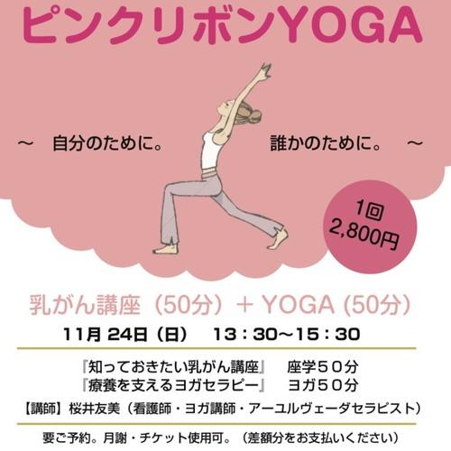 【11/24(日)開催イベント】ピンクリボンYOGA