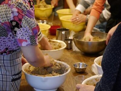 発酵食堂カモシカのぬか床ワークショップ