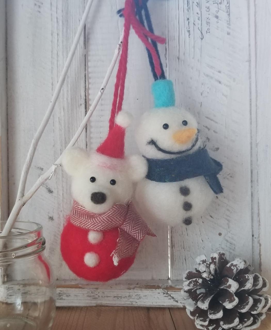【横浜たまプラーザ】 クリスマス飾りハンドメイドフェア-羊毛フェルトのオーナメント作り-|2020年12月13日(日)