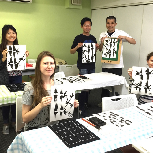 Japanese Ink Painting Class 7/31