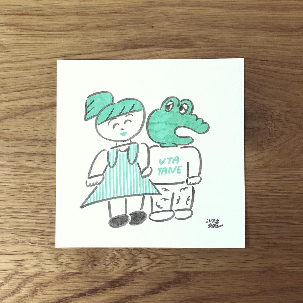 9/20(月・祝)【ニシワキタダシ個展】なにかしらと似顔絵 Zoomオーダー
