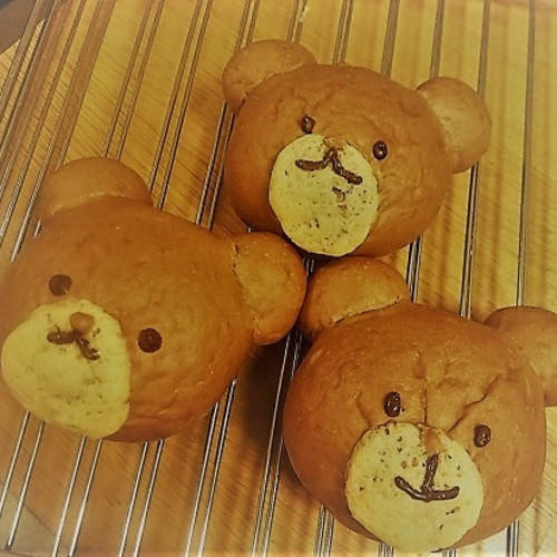 親子パン教室mini「ふわふわくまさんパン!」byこどもパン(9/7 土・2,500円・☆・🚼)