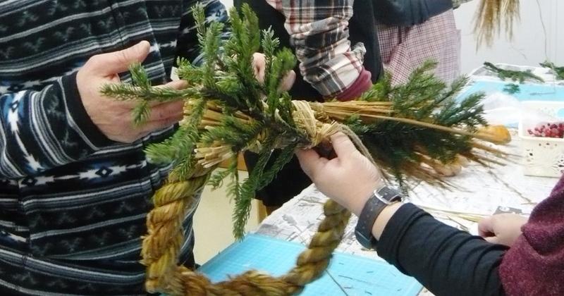 【お正月企画】くるるの杜の稲わらで「しめ縄」を作ろう