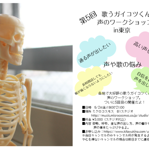 第5回歌うガイコツくん声のワークショップin東京