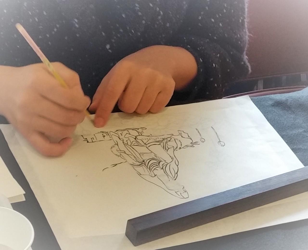 アトリエ霽月仏画教室 写仏体験