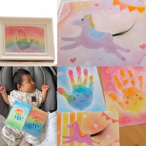 【ブランチ学園都市】親子で作ろう!ファーストカットアート or にじの手形アート(2020年1月~)