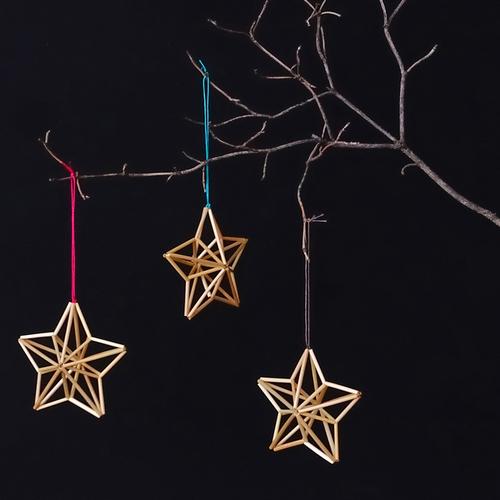 たまアリ△タウン クリスマスマーケット『ヒンメリの星形オーナメントづくり』ワークショップ