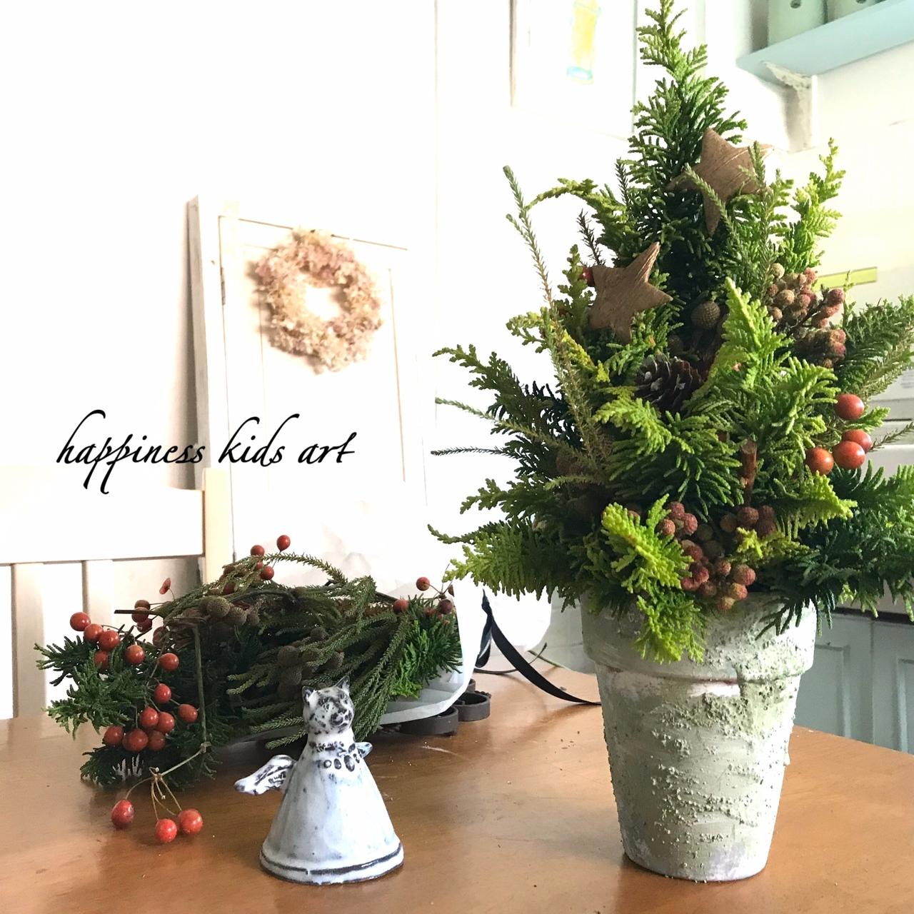 12月Little★本物モミやヒバで五感を刺激!親子で作るクリスマスツリー!