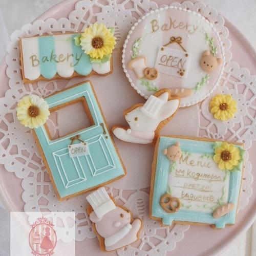 <8月マンスリー>『こぐまのパン屋さん』アイシングクッキーレッスン