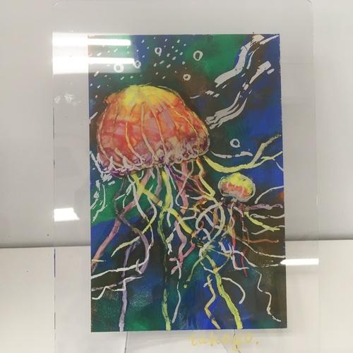 臨床美術セミナー7月のテーマは「クラゲと海の世界」開催します