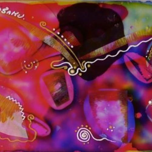 【臨床美術】『重なる不思議な世界』