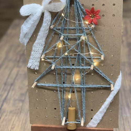 【12月ワークショップ】クリスマスストリングアート~MESHでLチカ~