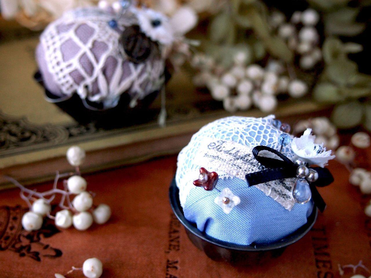 お菓子みたいなピンクッション & 飾りまち針