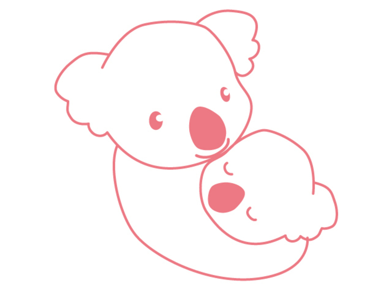オンライン・2~6ヶ月児・子育てサロン・コアラ(Zoom)