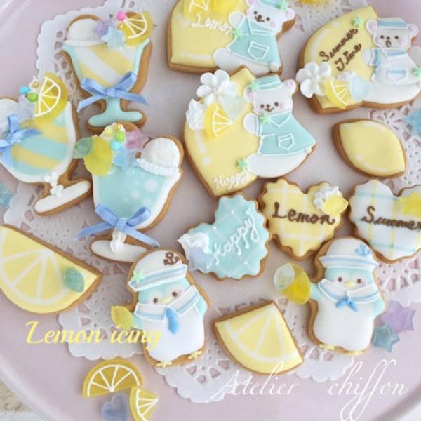 <7月マンスリー>マリンなレモンアイシングクッキーレッスン