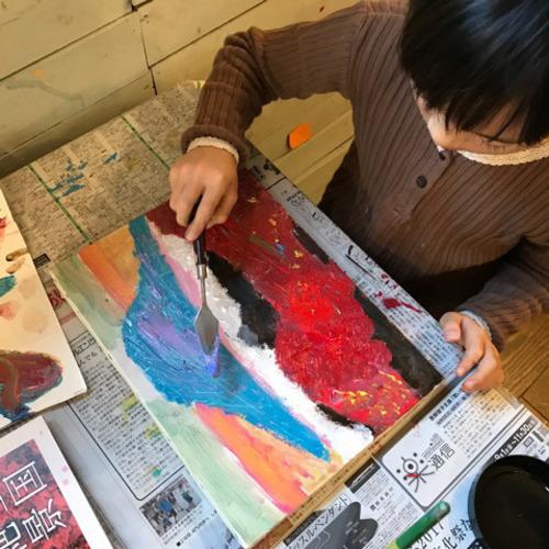 Event 8/2(金)19(月)★はじめての手ぶらde油絵教室(年長~小学生)