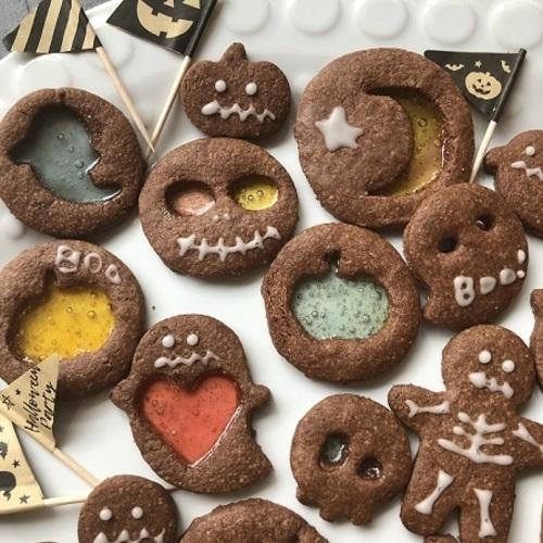 ハロウィンだよ!ステンドグラスクッキー by焼き菓子mimu(10/19 土・1,980円・☆・🚼)