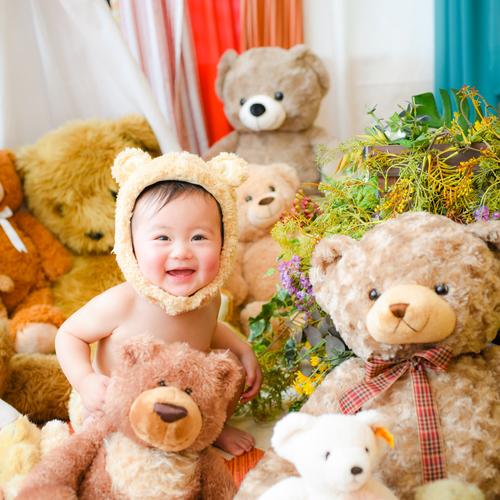 【笑顔創造写真館ニコ東広島店】くまボーイ・くまガール撮影会