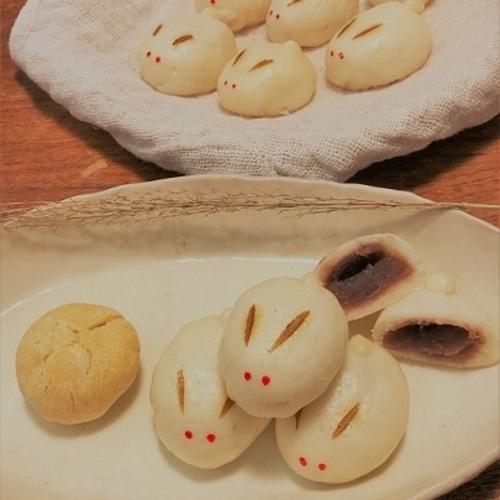 お月見だよ!米粉と甘酒で作るうさぎまんじゅう by 焼き菓子 mimu(9/13金・1,980円・☆・🚼)