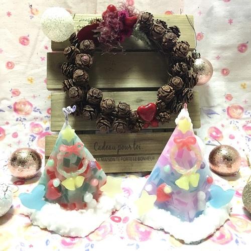 ☆クリスマスキャンドル&リースホルダーの1dayレッスン