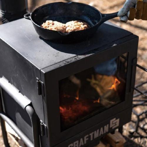 魚河岸で薪ストーブ料理体験!