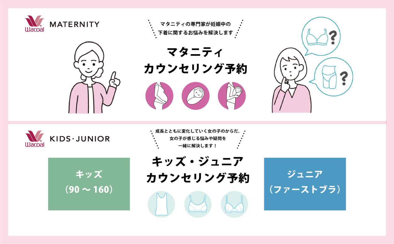 【ワコールマタニティ/ワコールキッズ・ジュニア ご来店予約】西宮阪急 4F