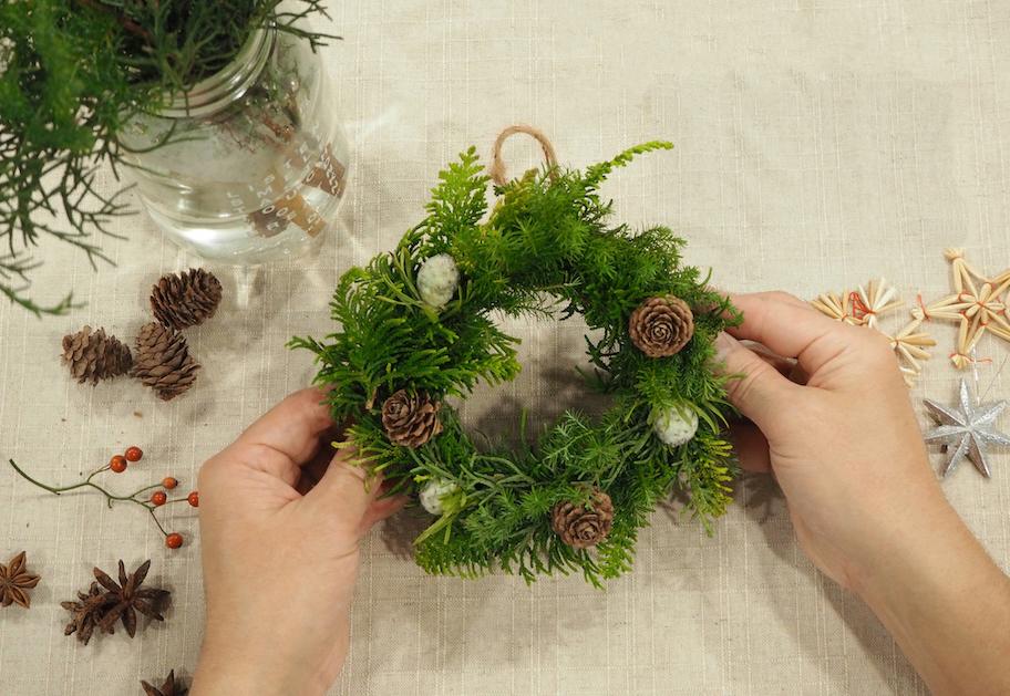 おうちで!クリスマスリース作り