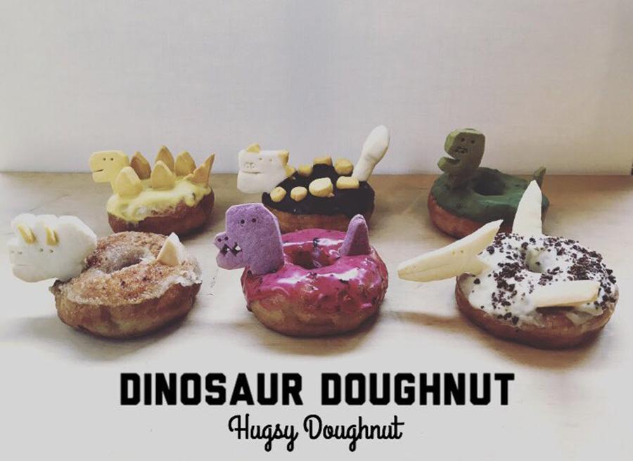3/28(土)HUGSY DOUGHNUT 恐竜ドーナツ予約販売 at 本とコーヒーtegamisha