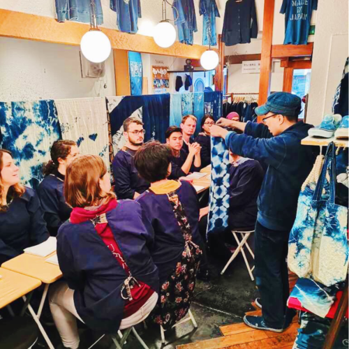 Shibori Indigo Dyeing Experience on October 19th