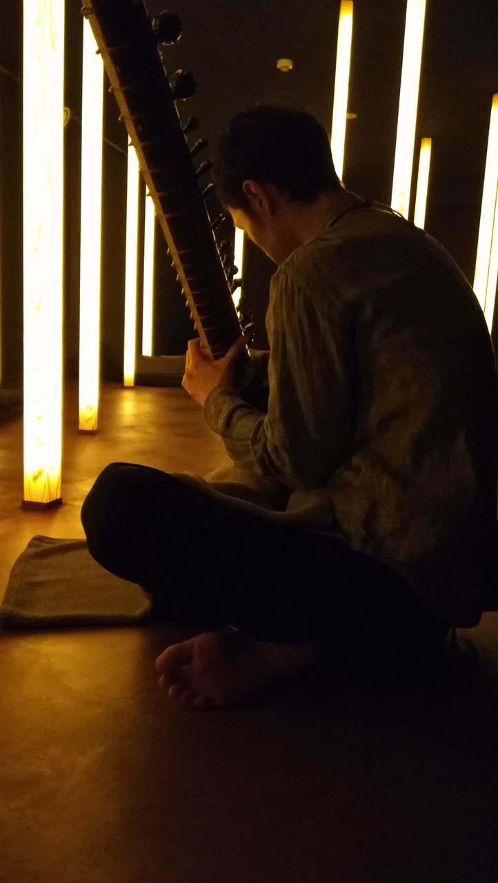 【癒しのシタール生演奏】半眼~月夜の森で行ったり来たり~