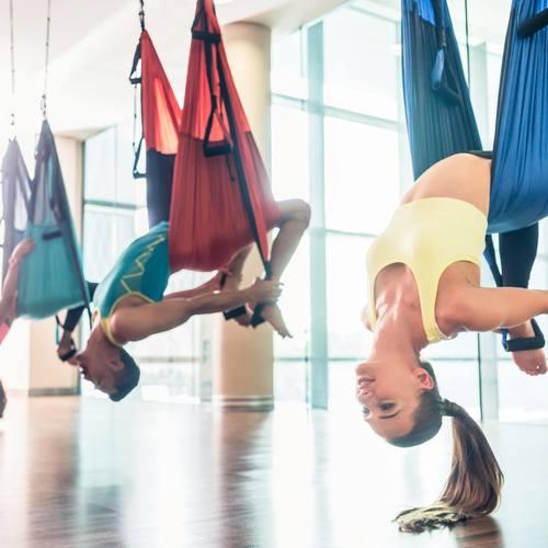 シルクサスペンションで楽しく優雅に体幹を鍛えましょう!(体験)