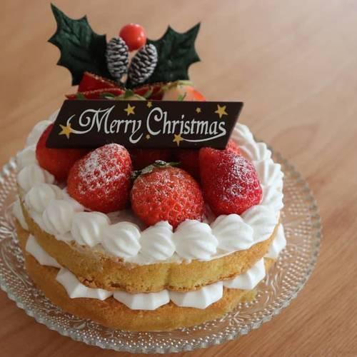 【 はじめてさんのための 米粉の発酵ネイキッドクリスマスケーキ/ 金廣 由佳 講師 】