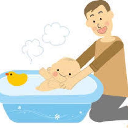沐浴+抱っこを体験しよう!