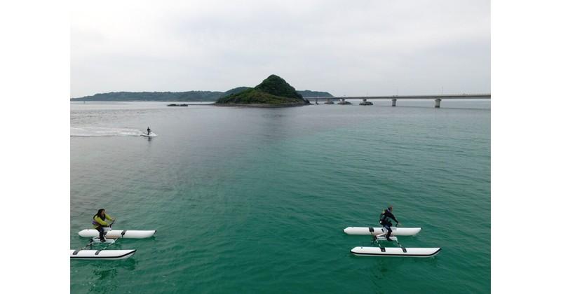 角島で水上サイクリング体験・ドローン撮影プレゼント