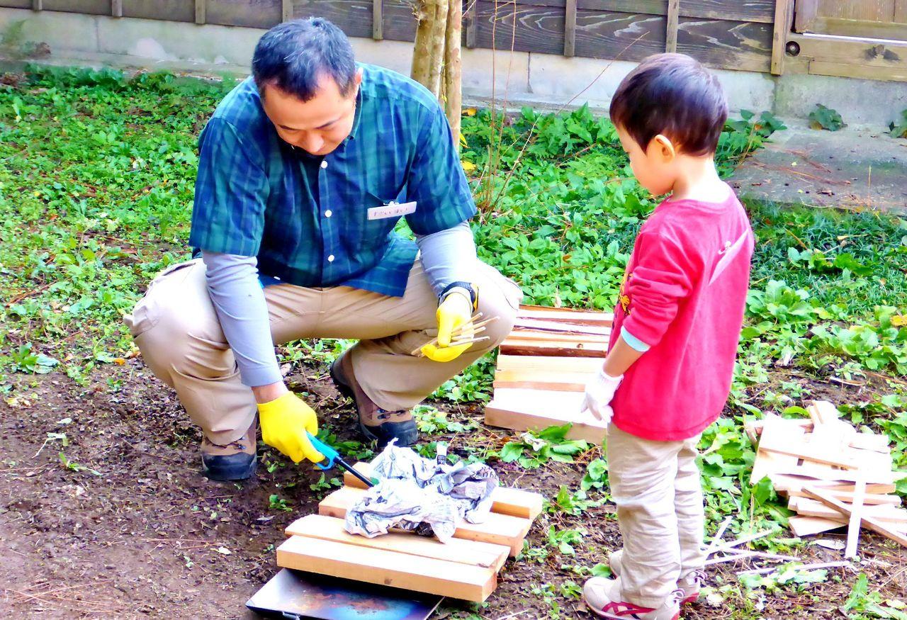 松ヶ岡開墾スピリット親子塾 開拓者の技術に学ぶ!道具の使い方&火の扱い方講座