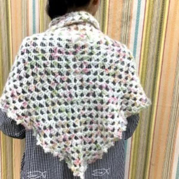 Keito「ちょっと編めるさんのかぎ針ショール」