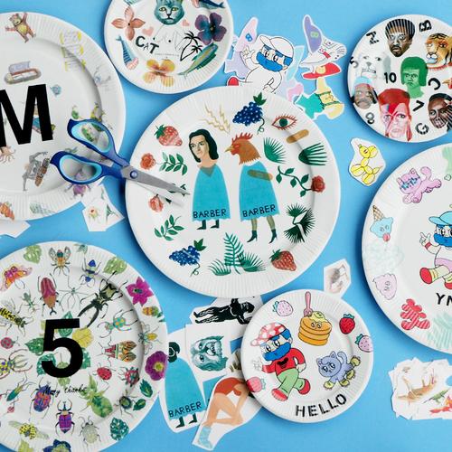 【名古屋店/2019.08.30(金)~9.1(日)】マルヒロ・転写シールの飾り皿