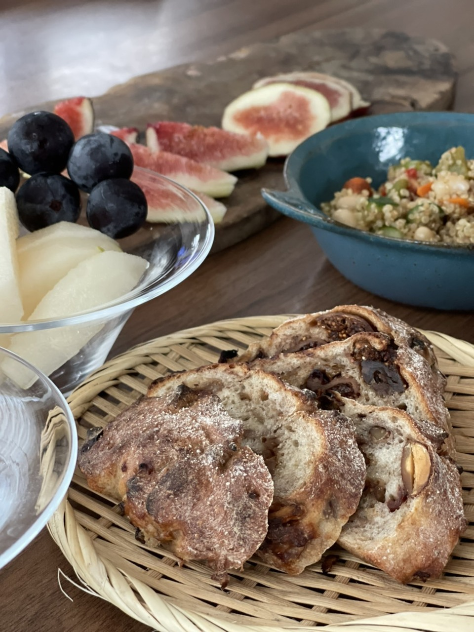 9/25 イベントレッスン いちじくと胡桃とチョコの天然酵母パン