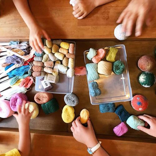 夏休み!子ども手まり教室(まきまき体験)西荻窪TEMARICIOUS開催